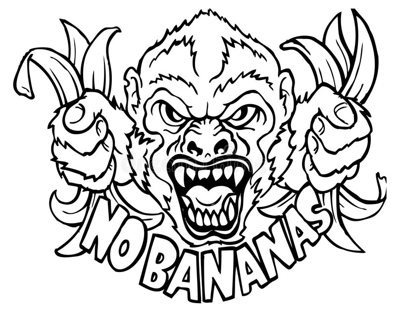 Nenhumas bananas fotografia de stock royalty free