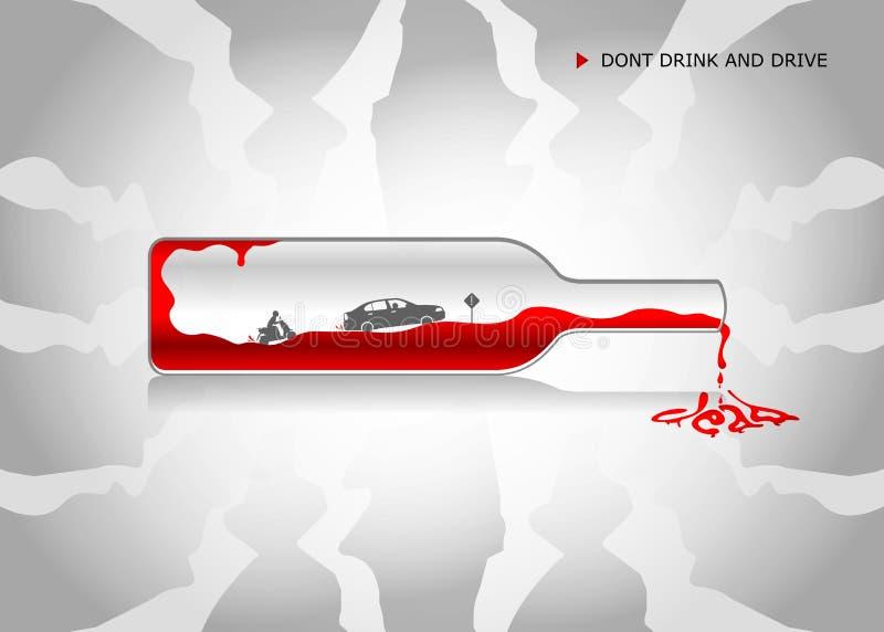 Nenhumas bebida e movimentação, não bebem e não conduzem ilustração royalty free