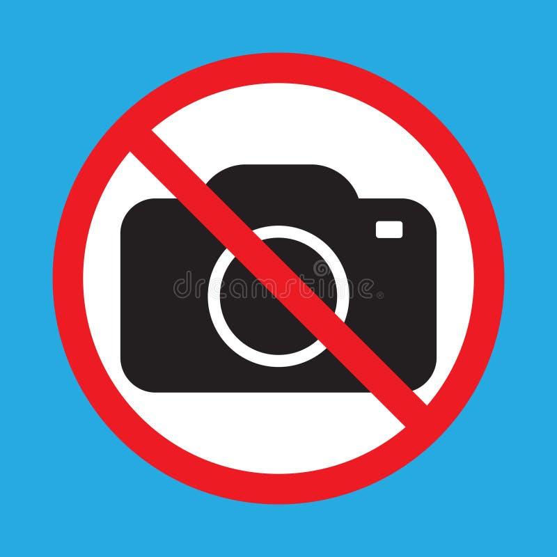 Nenhumas câmeras permitidas o sinal Proibição vermelha nenhum sinal da câmera Nenhumas imagens de tomada, nenhum sinal das fotogr ilustração stock