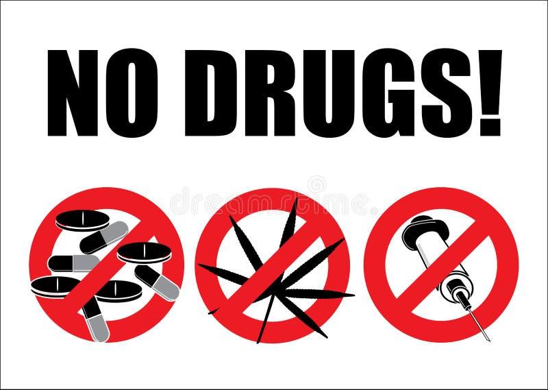 Nenhumas drogas ilustração royalty free