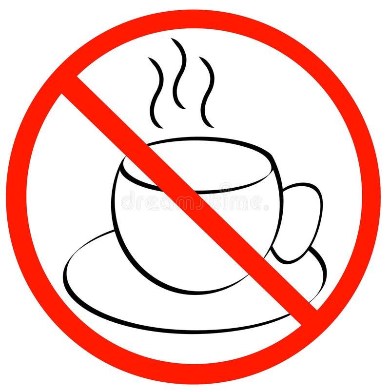 Nenhumas rupturas de café permitidas ilustração stock