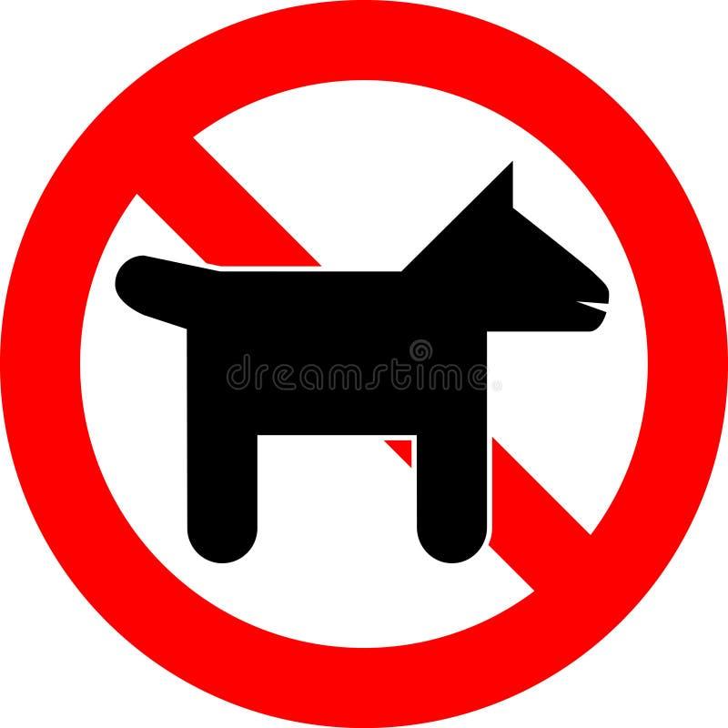 Nenhuns animais de estimação ilustração stock