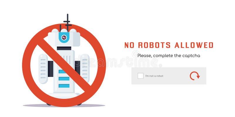 Nenhuns robôs permitidos ilustração do vetor