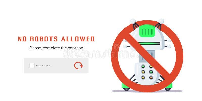 Nenhuns robôs permitidos ilustração stock