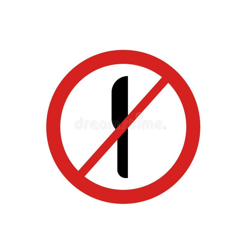 Nenhuns sinal e símbolo cortados do vetor do ícone isolados no fundo branco, nenhum conceito cortado do logotipo ilustração royalty free