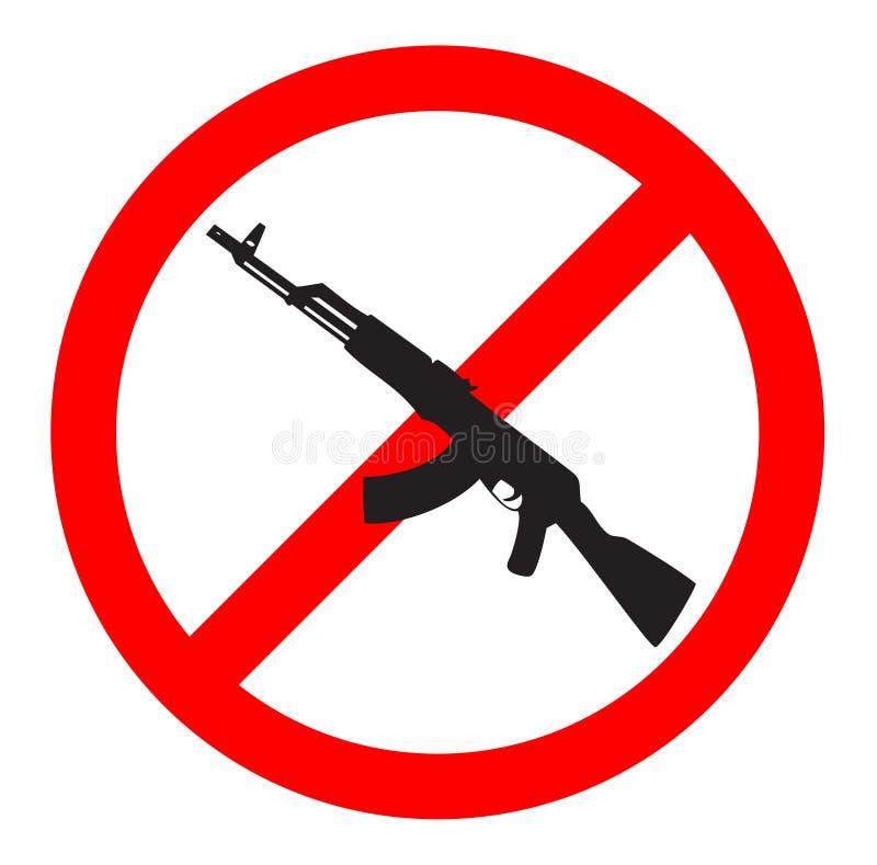 Nenhuns sinal e símbolo da arma ilustração royalty free