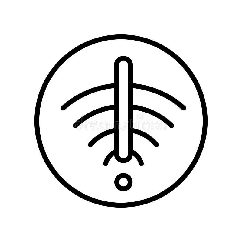 Nenhuns sinal e símbolo do vetor do ícone do wifi isolados no fundo branco ilustração do vetor