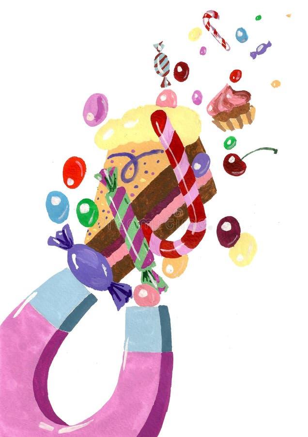 Nenhuns sweeties sem ímã ilustração royalty free