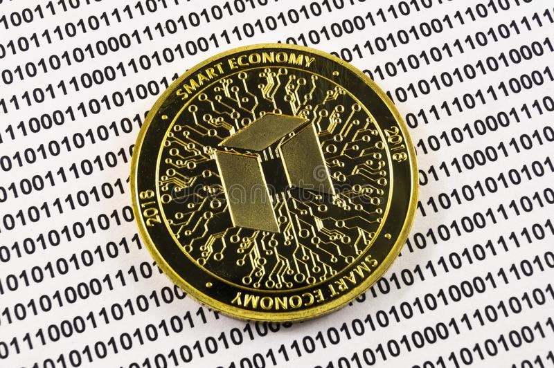Neo è un modo moderno dello scambio e di questa valuta cripto immagini stock libere da diritti