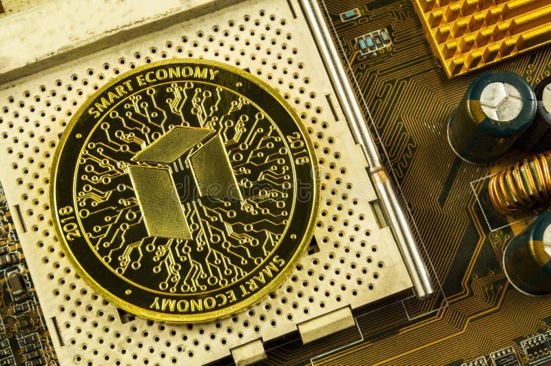 Neo è un modo moderno dello scambio e di questa valuta cripto fotografia stock libera da diritti