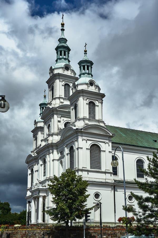 Neo-barock katolsk kyrka arkivfoton