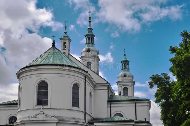 Neo-baroque Catholic Church. In Radomsko in Poland stock image