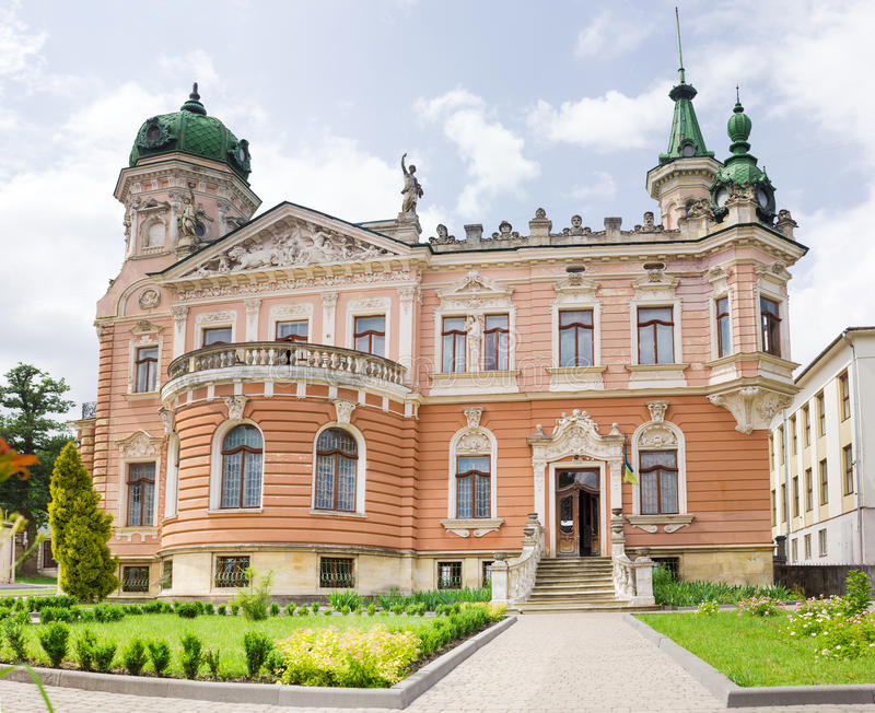 Neo-Baroque style building. Building of the National Museum, built in neo-Baroque style with the elements of the late Romanticism at the end of the 19th century stock images