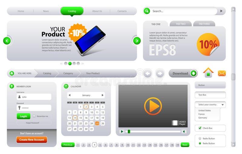 Download Neo Cool Website Design Elements Stock Vector - Illustration: 20155885