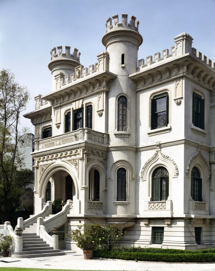 Neo-Gothic house located in the Condesa neighborhood stock images