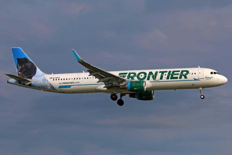 Neo gränsflygbuss A321 fotografering för bildbyråer