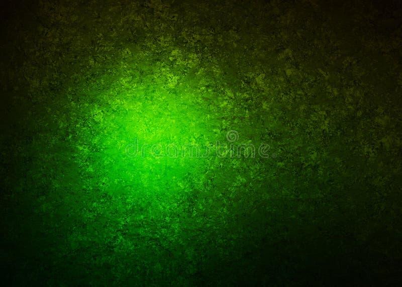 Neo grön Grunge med den ljusa tapeten för illustration för bakgrund för textur för OrbsTechno Digital orientaliska dekorativa mod royaltyfri illustrationer