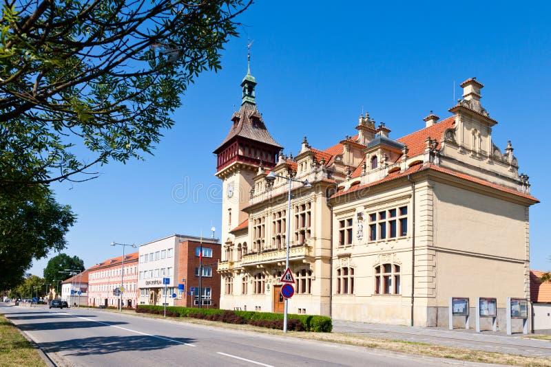 Neo-renaissance town hall, Napajedla town, Zlin region, South Moravia, Czech republic. Neo-renaissance town hall, Napajedla town,  Zlin region, South Moravia royalty free stock images