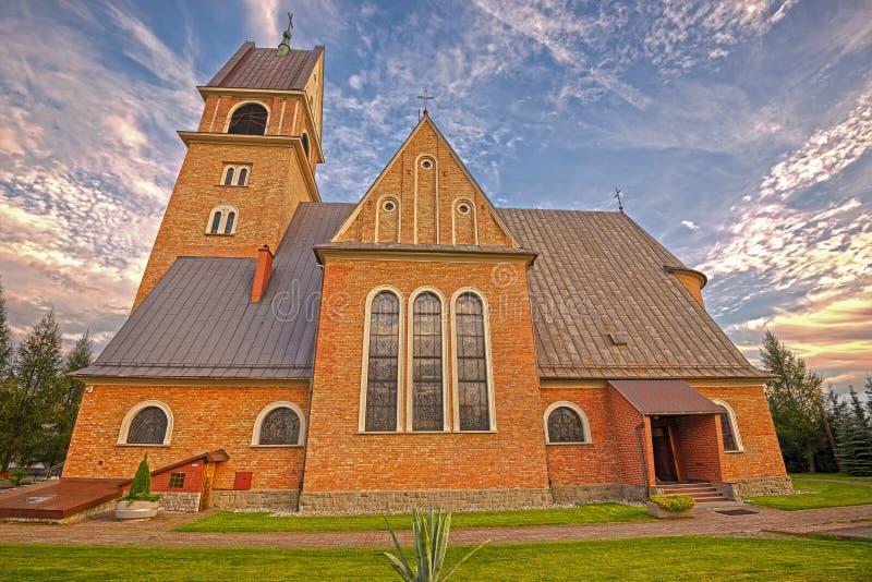 Neo-Romanesque church in Skomielna Biala, Poland royalty free stock photos