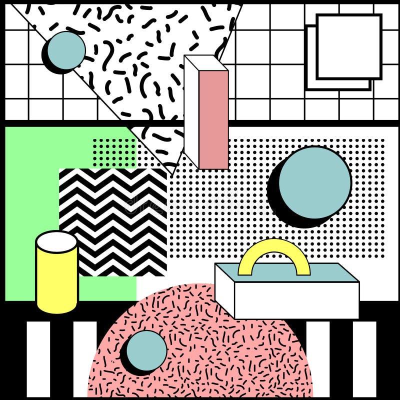 Neo Stylowy Geometryczny Przypadkowy tło ilustracji