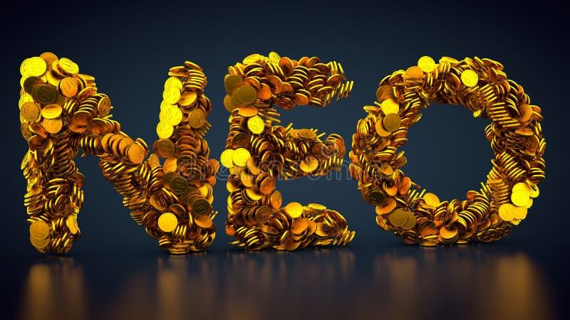 NEO symbol för Crypto valuta royaltyfri illustrationer