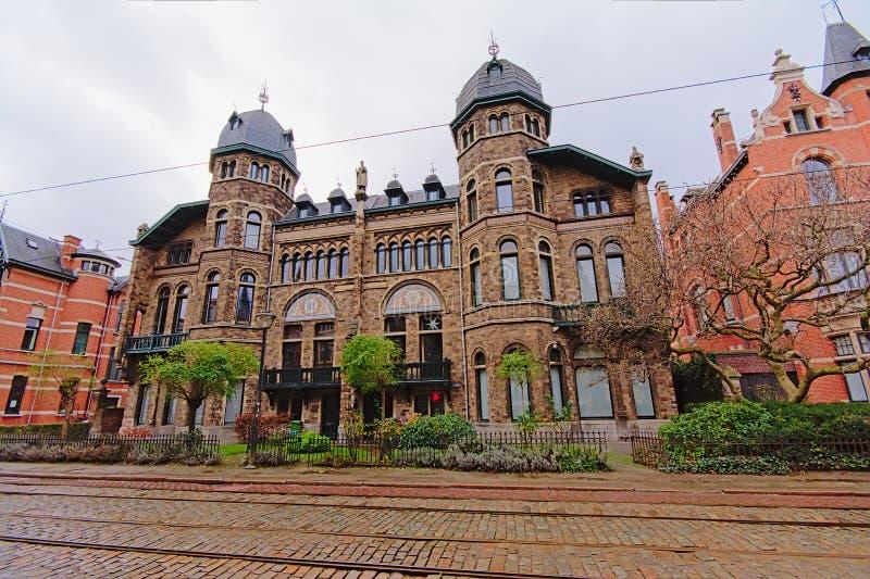 Neo Vlaams renaissancehuis in Zurenborg-district, Antwerpen royalty-vrije stock afbeelding