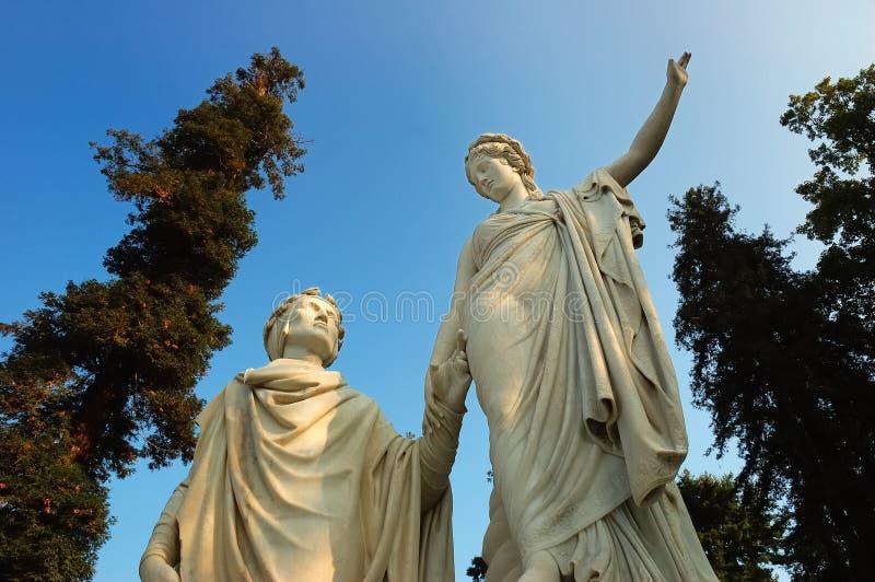 neoclassic staty royaltyfri fotografi
