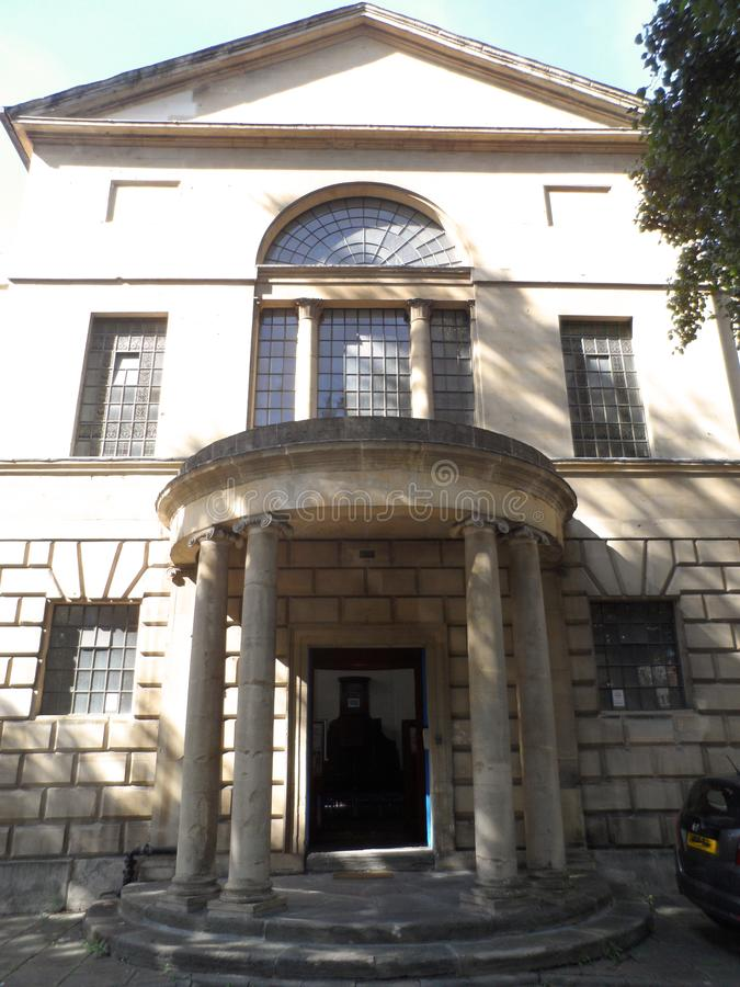 Neoclassical Bristol Emmanuel Meeting House Building royalty free stock photo