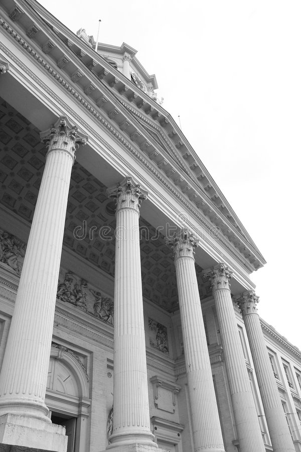Neoclassical building royalty free stock image