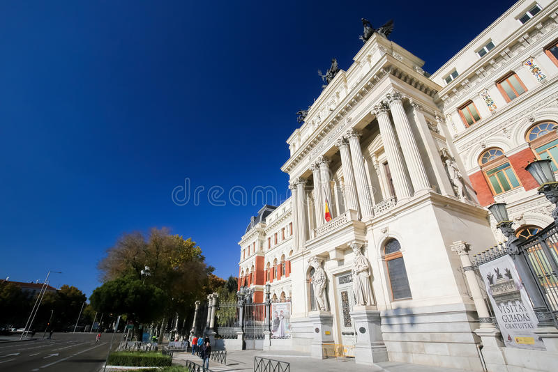 Neoclassical building at Atocha Metro Station, Madrid stock photos