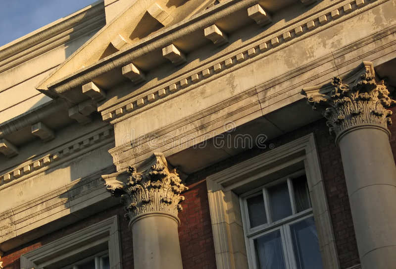 Neoclassical building facade stock photos