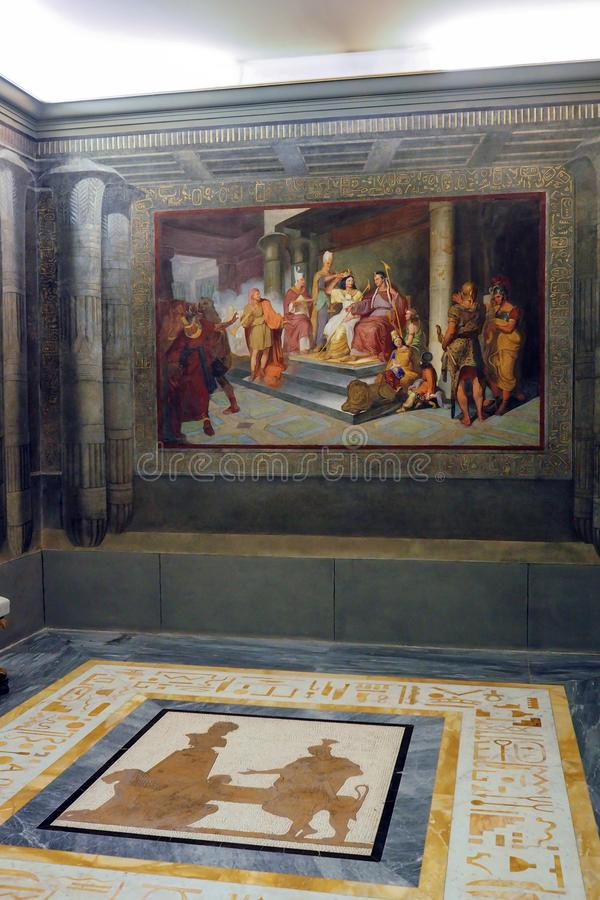 Neoclassical palace of Villa Torlonia in Rome, Italy stock photography