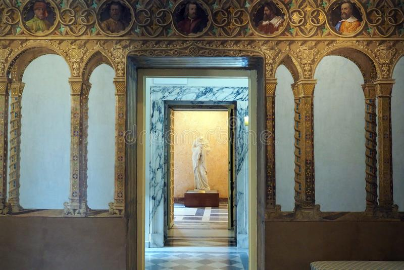 Neoclassical slott av villan Torlonia i Rome, Italien arkivfoto