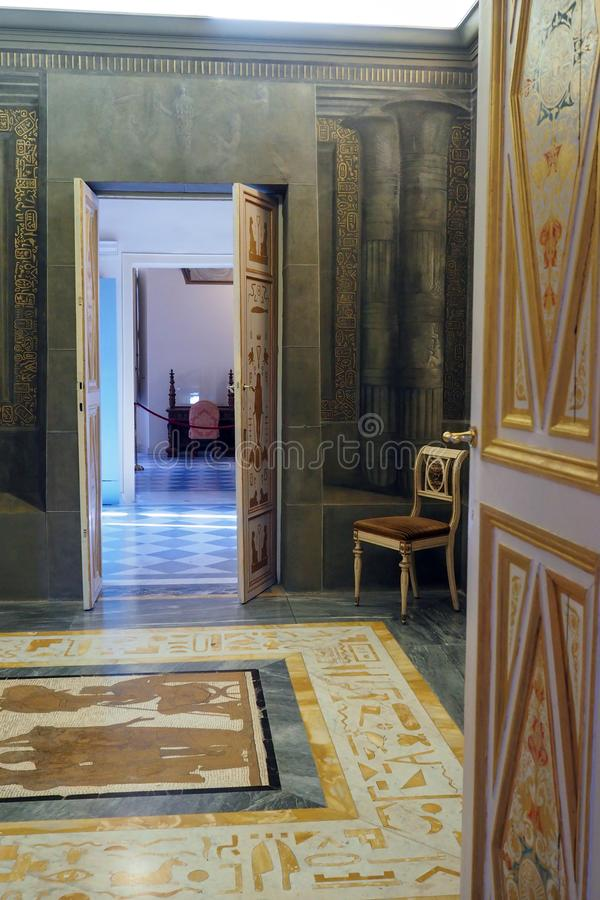 Neoclassical slott av villan Torlonia i Rome, Italien royaltyfri foto