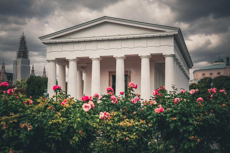 Theseus Temple in Volksgarten, Vienna, Austria. Neoclassical Theseus Temple in public park Volksgarten English: People`s Garden in Vienna, Austria royalty free stock photos