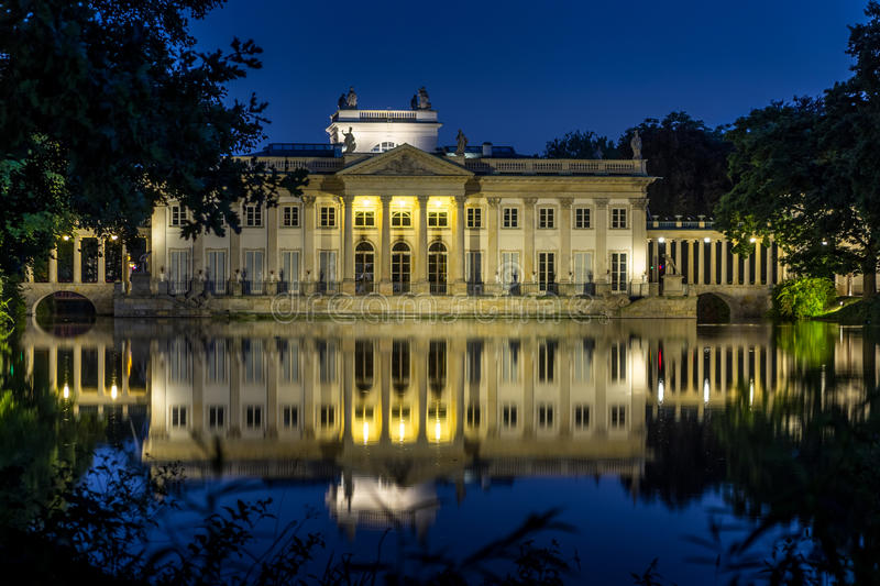 A Neoclassicist Palace by Night royalty free stock photography