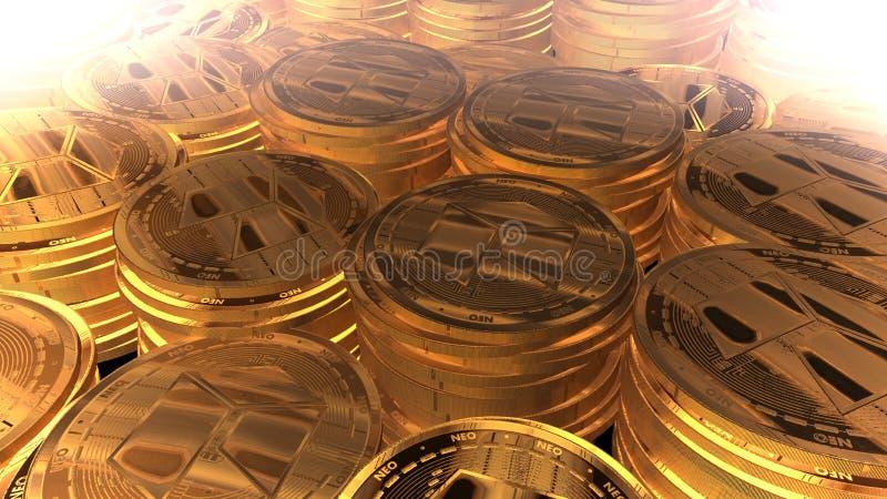 Neocoin de oro real imagen de archivo