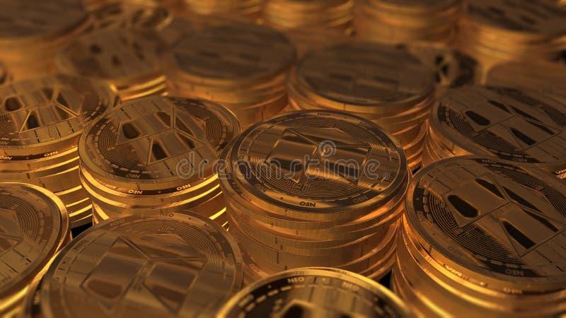 Neocoin de oro real imagen de archivo libre de regalías