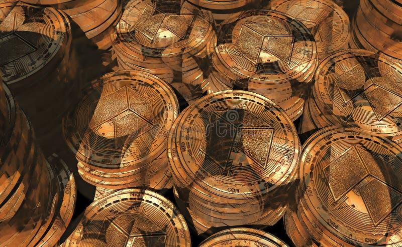 Neocoin de oro real foto de archivo libre de regalías