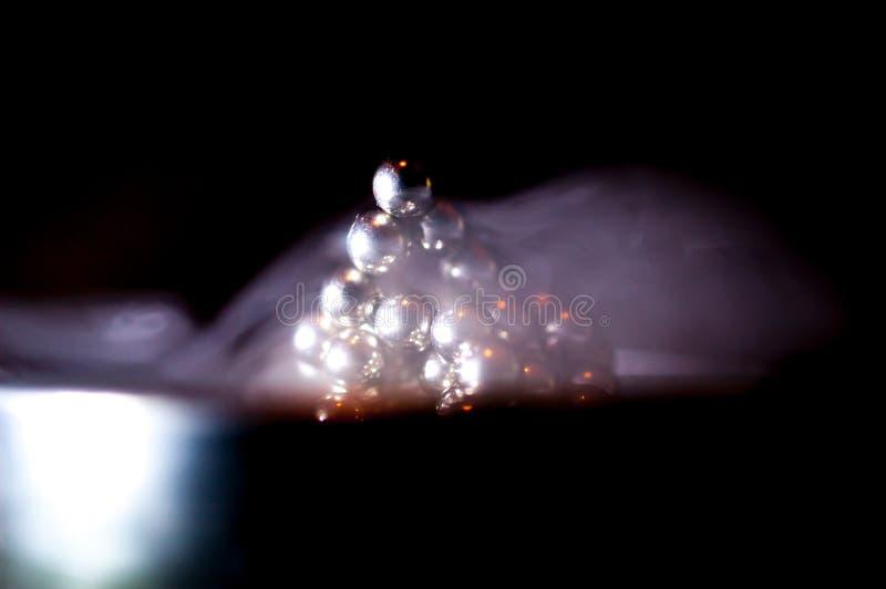 Neocube en el humo imágenes de archivo libres de regalías