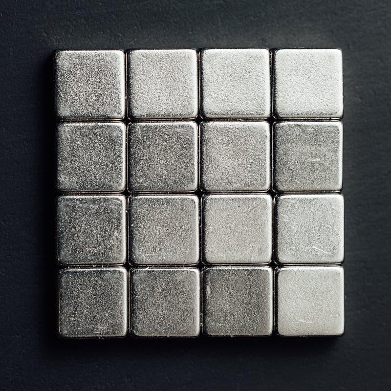 Neodymów magnesów kwadraty obrazy stock