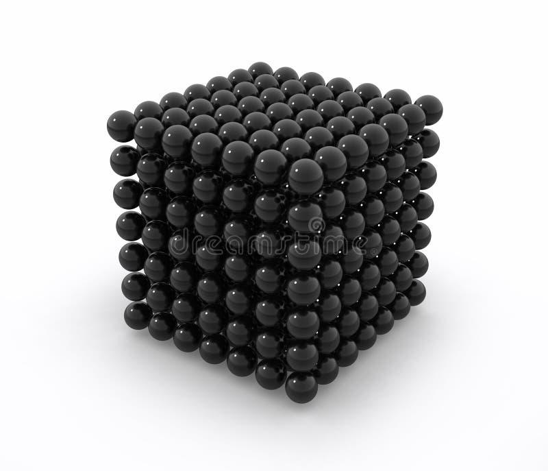 Neodym Black Cube Royalty Free Stock Image
