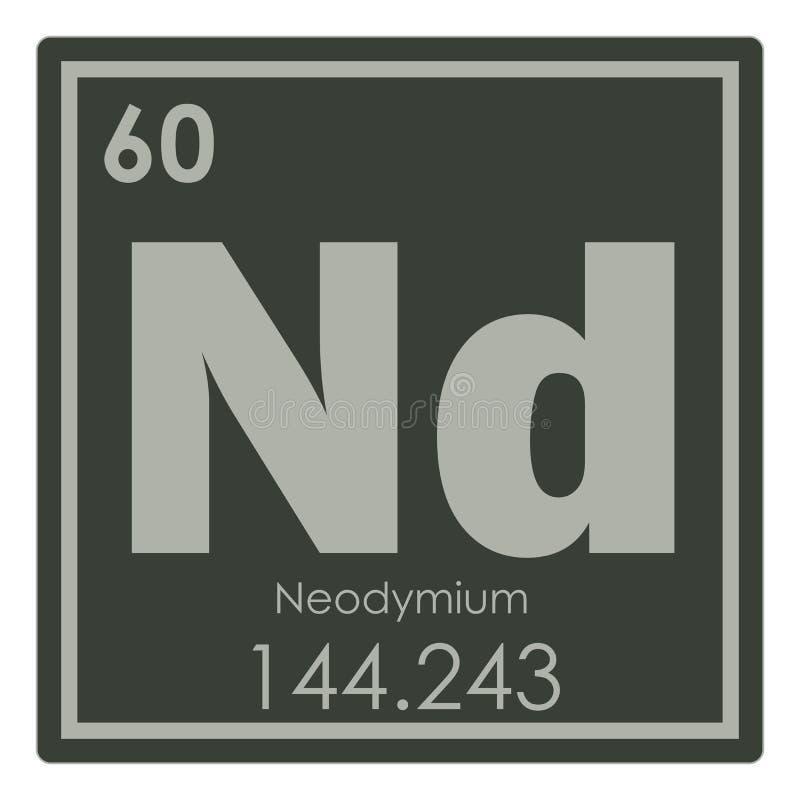 Neodymium Chemical Element Stock Illustration Illustration Of Color