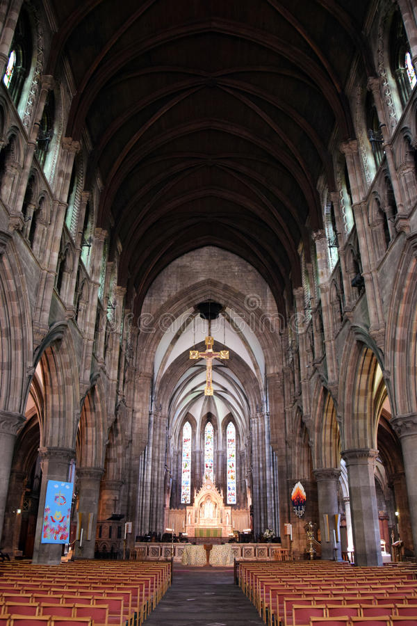 Neogótico - catedral do ` s de St Mary interna imagem de stock royalty free