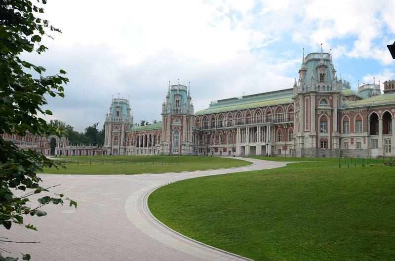 Neogothic ceglany dom Tsaritsyno park zdjęcie royalty free