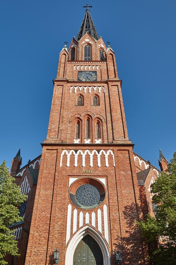 Free Neogothic Red Brick Church In Pori. Finland. Suomi. Europe Royalty Free Stock Photo - 102845855