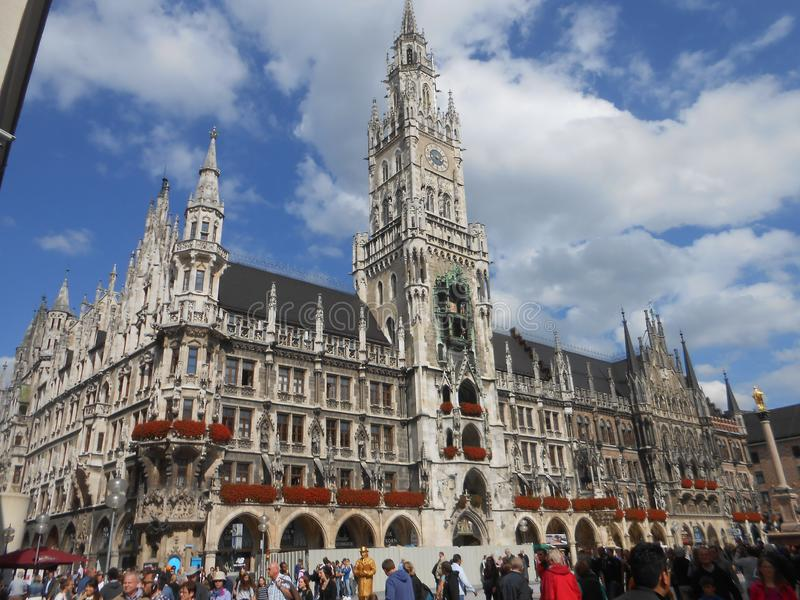 Neogothic townhall в Мюнхене стоковое фото