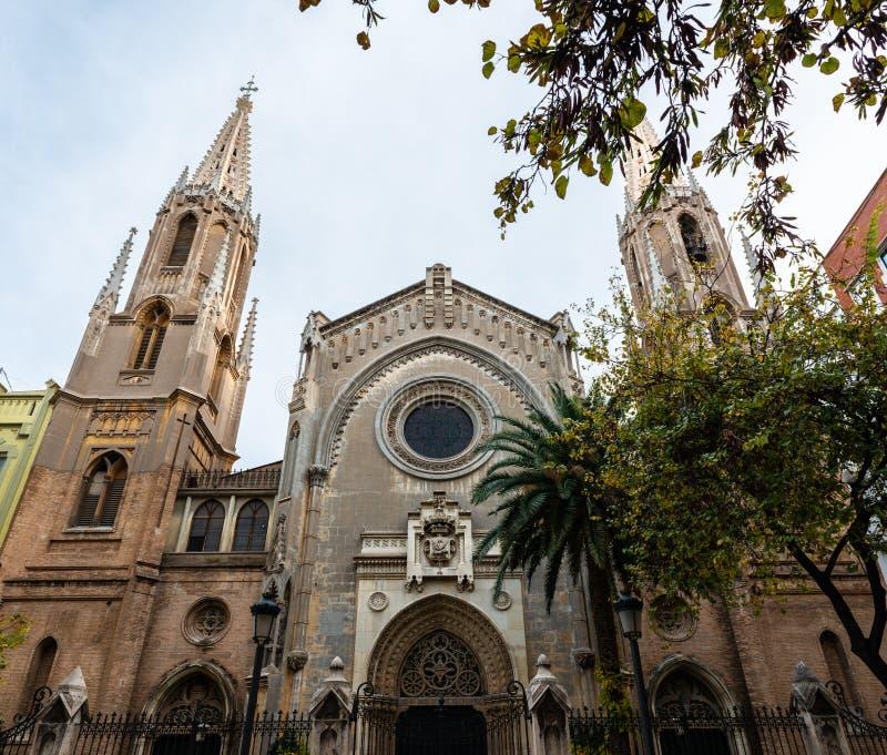 Neogotische Basiliek San Vicente in Valencia royalty-vrije stock afbeeldingen