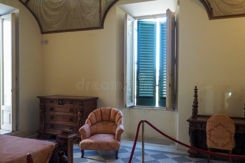 Neoklassiek paleis van Villa Torlonia in Rome, Italië stock foto