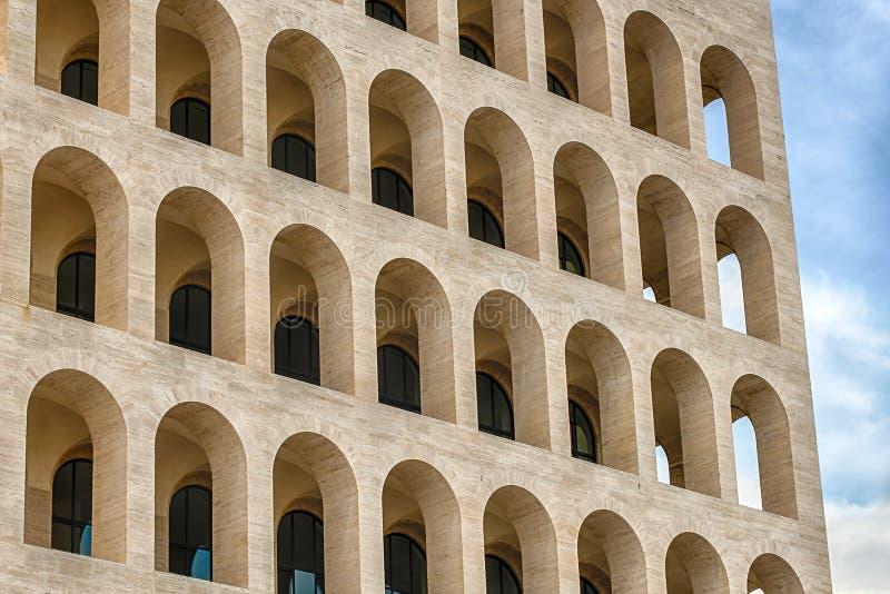 Neoklassische Architektur in EUR-Bezirk, Rom, Italien lizenzfreie stockfotos